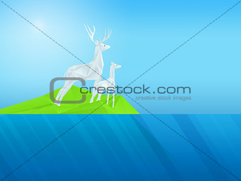 3d render deer