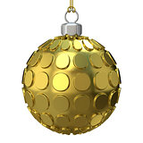 Gold Christmas ball. 3D