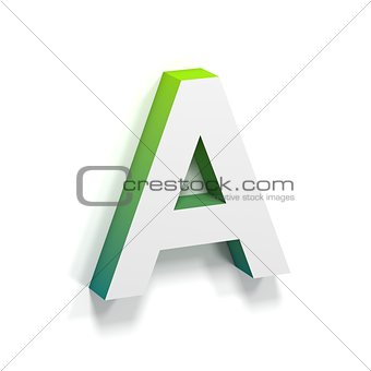 Green gradient and soft shadow letter A