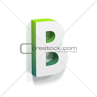 Green gradient and soft shadow letter B
