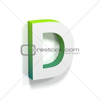 Green gradient and soft shadow letter D