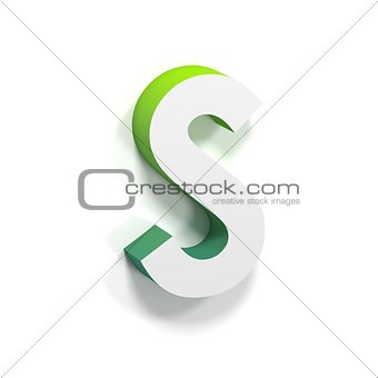 Green gradient and soft shadow letter S