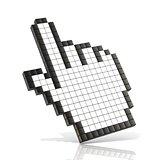 Cursor hand. 3D