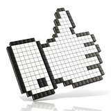 Like symbol. 3D