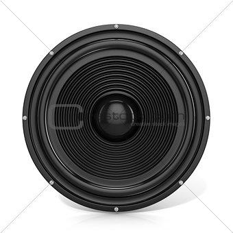 3D render illustration of loudspeaker