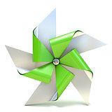 Pinwheel toy, five sided. 3D