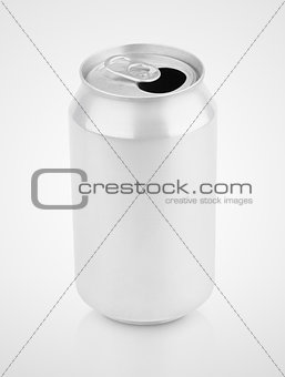 330 ml aluminum soda can on gray