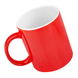 Red mug on white