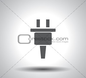 Power energy symbol on white background