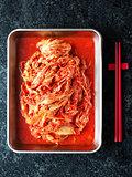 rustic korean fermented cabbage kimchi
