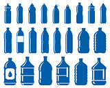 set of water bottle icons