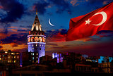 Flag and Galata Tower