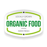 Organic food vintage sticker