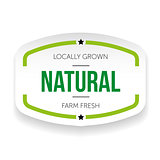 Natural vintage sticker vector