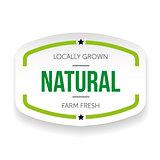 Natural vintage sticker vector