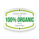 Hundred percent organic sticker