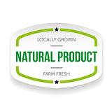 Natural product vintage label