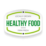 Healthy food vintage label