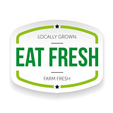 Eat fresh vintage label