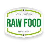Raw food vintage label