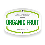 Organic fruit vintage label