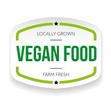 Vegan food vintage label