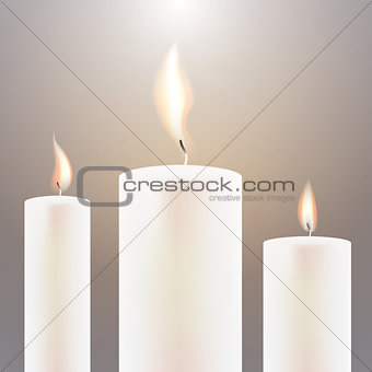 Three Candle Flame.