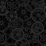seamles pattern gears 00 black