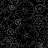seamles pattern gears black