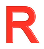 Red letter. 3D illustration