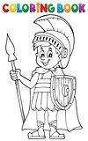Coloring book Roman soldier