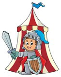 Knight by tent theme image 1