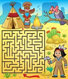 Maze 3 with Native American boy