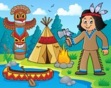 Native American boy theme image 1
