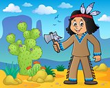 Native American boy theme image 2