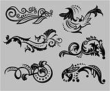 Vintage floral elements for design.