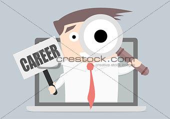 Businessman Career Laptop