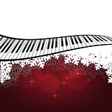 Red template with piano