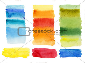 Watercolor abstract shapes columns high resolution cleaned background isolated easy to use