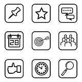 Service icons on white background.
