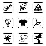 Ecology icons and Environment icons with White Background.