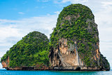 Rocks covered with trees, beautiful scenic in the Andaman Sea, T