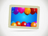 Balloons gift card with rope and shadow