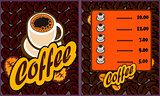 coffee shop illustration design elements vintage vector