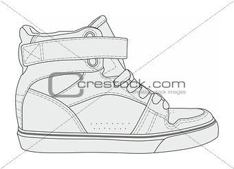 Modern stylish sneakers