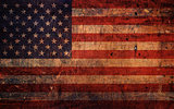 Vintage Old Grunge American Flag