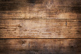 Weathered Brown Wooden Boards Background