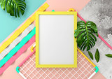 Modern Fun Mock Up Frame