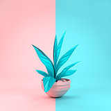 Pastel Plant and Background
