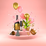 Pink Party Background